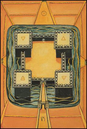 """Tarot Four 4 of Disks """"Power"""""""
