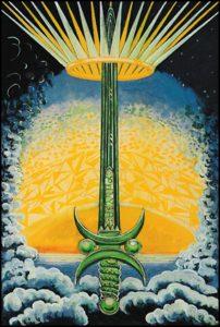 Thoth Tarot Ace of Swords, III