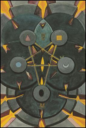 Tarot Five 5 of Disks (Worry)
