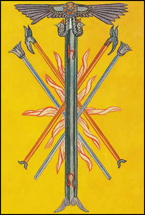 Thoth Tarot Five of Wands (Strife)