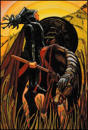 Tarot Knight of Disks