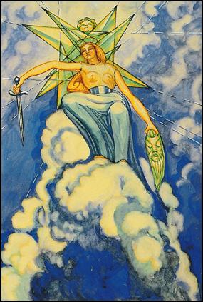 Thoth Tarot Queen of Swords