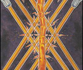 Thoth Tarot Seven of Wands (Valour)