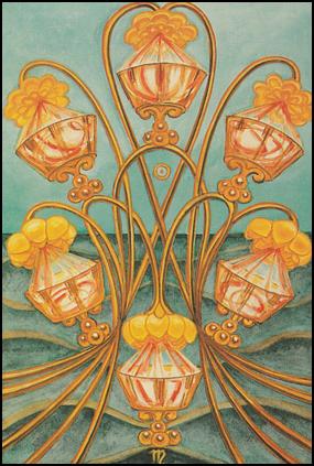 Thoth Tarot Six of Cups (Pleasure)