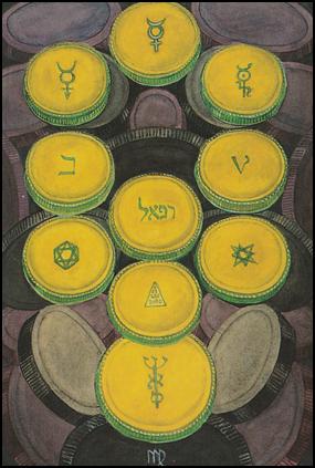 Tarot Ten 10 of Disks (Wealth)