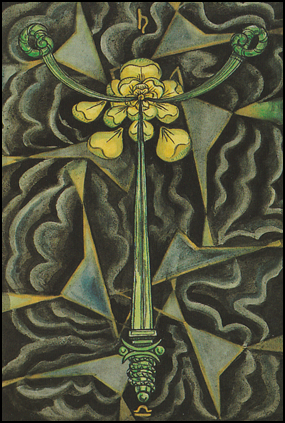 "Thoth Tarot 03 of Swords ""Sorrow"""