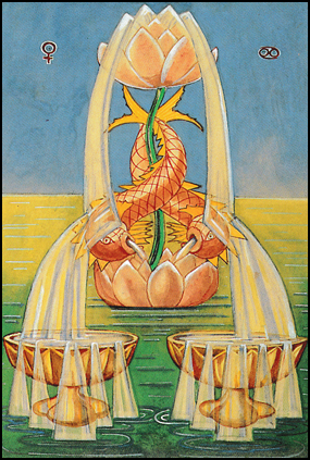 Thoth Tarot Two of Cups (Love)