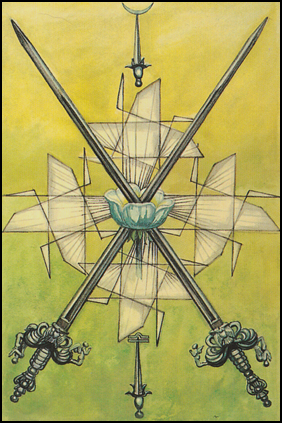 Thoth Tarot Two of Swords (Peace)