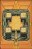 Thoth Tarot Four of Disks (Power)