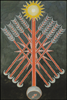 Thoth Tarot Nine of Wands (Strength)